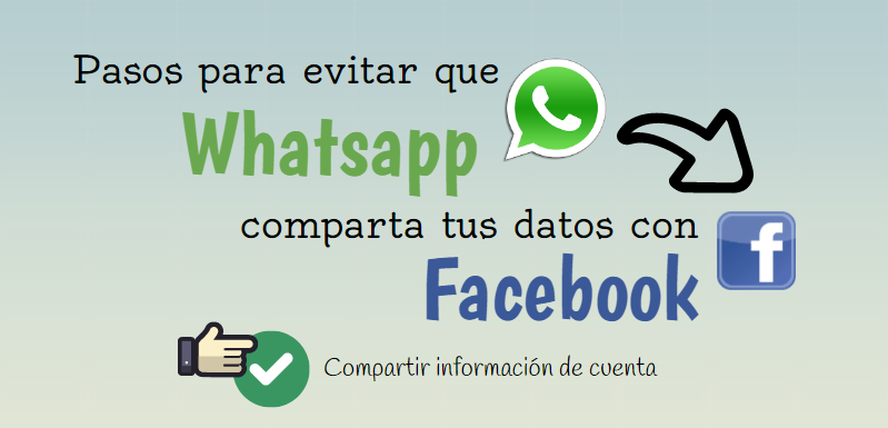 Evitar Whatsapp comparta tus datos con Facebook