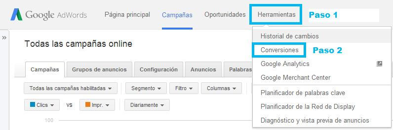 Tutorial-Website-Call-Conversions-AdWords-Paso-1
